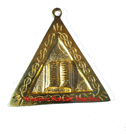 AASR Orator Officer Golden Finish Jewel