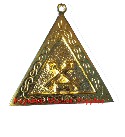 AASR Treasurer   Officers Jewel Golden Finish