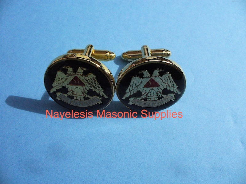 32ND Degree Golden Cufflinks