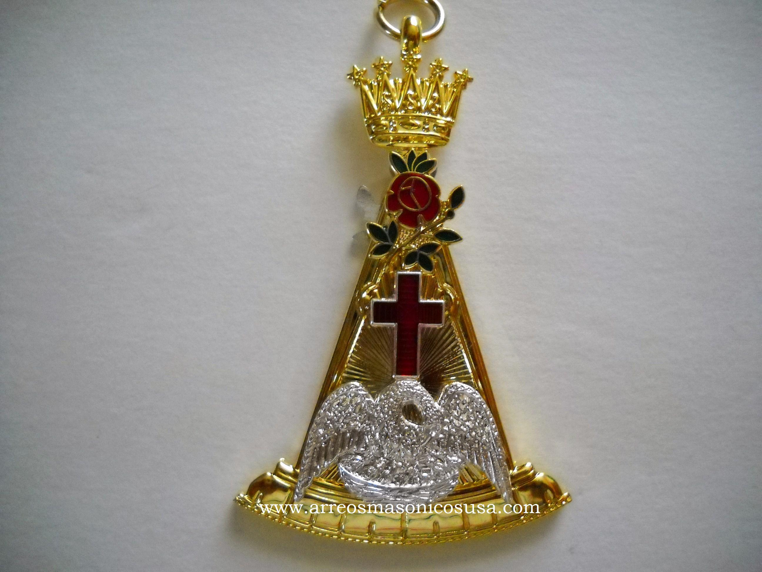 Knight rose croix 18th degree jewel