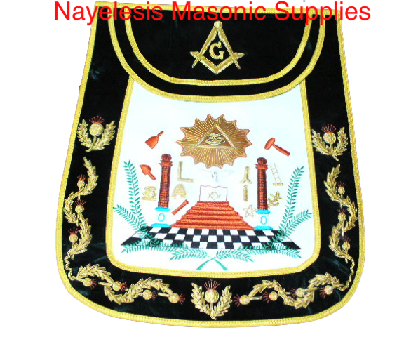Grand Lodge Master Mason  emblems masonic apron