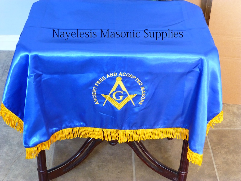Blue Lodge Alter Cover AF&AM Masons Double Satin
