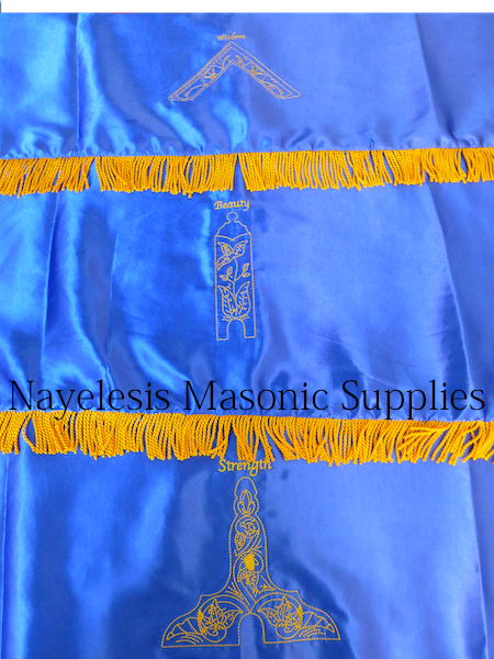 Blue Lodge Stations Covers Royal Blue Double Satin