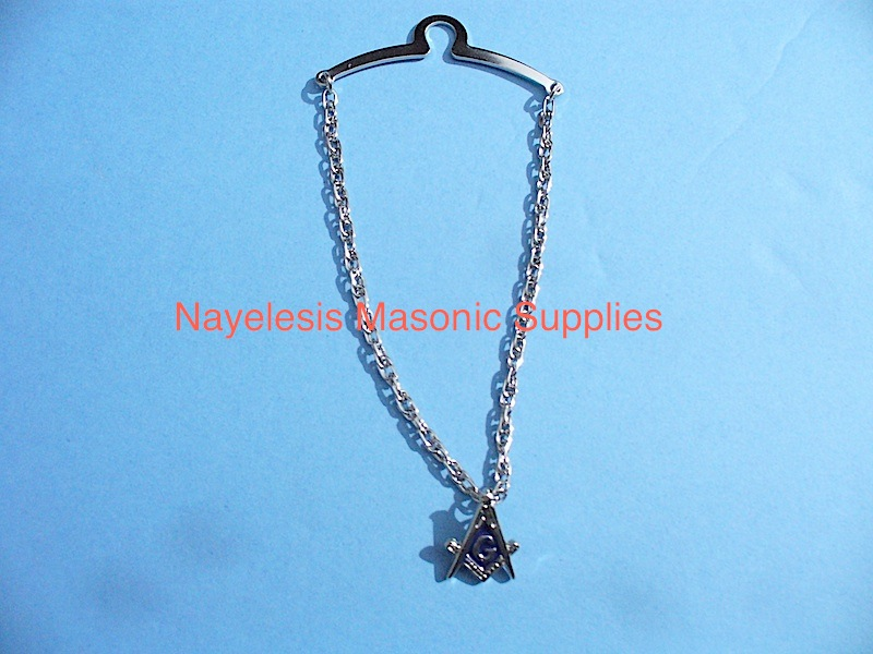 Blue Lodge Tie chain Silver Finish