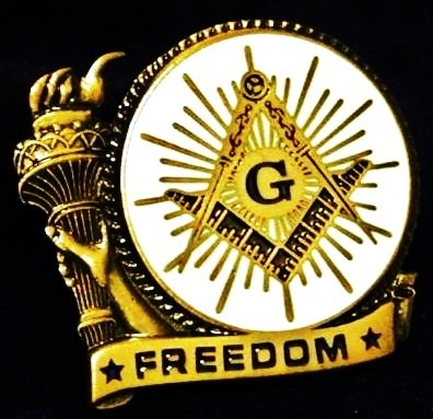 Freedom Master Mason Lapel Pin 021