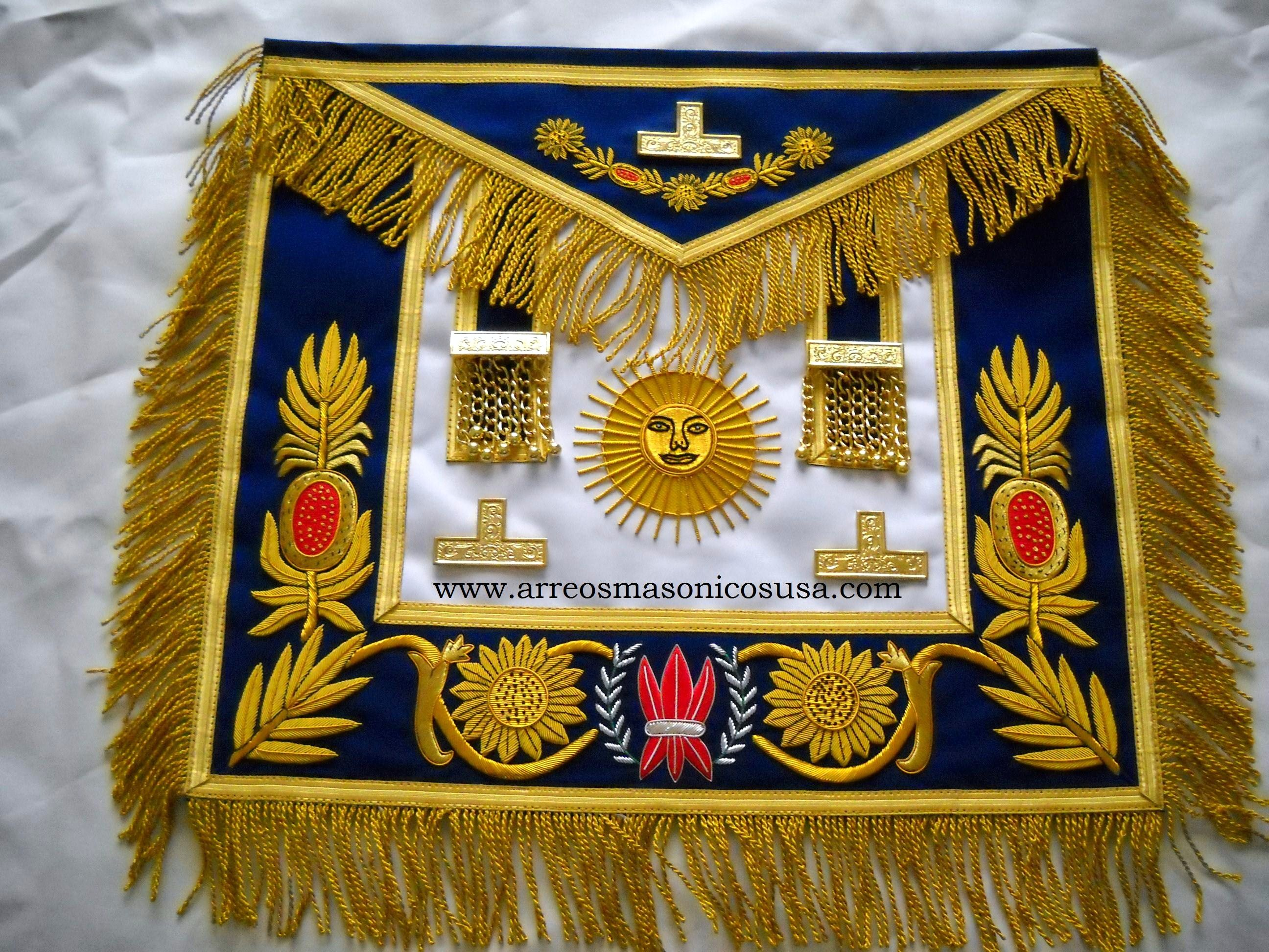 Grand Master Apron   with  Mylar Fringe