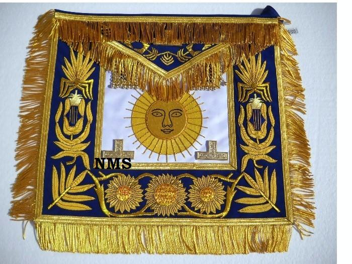 Grand Master Apron with Golden Bullion Embroidery Work