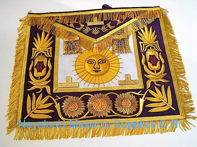Grand Master Apron Golden Bullion Purple