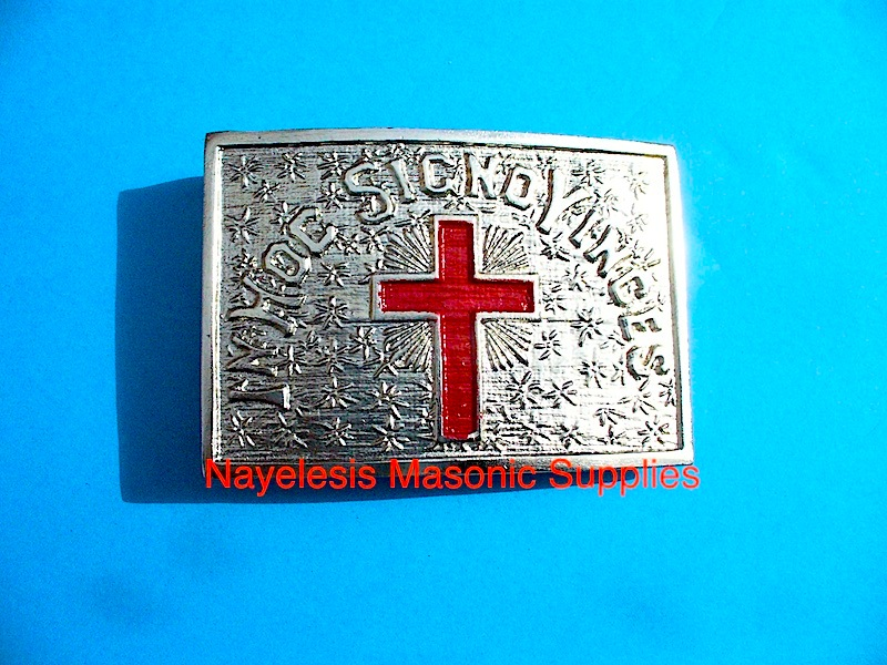 Knight Templar Belt Plate Silver finish/Uniform Accessories