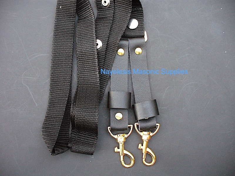 Knight Templar Belt Shoulder Strap Black Golden