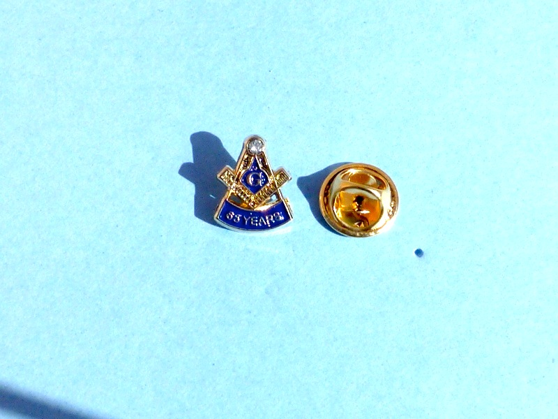 Masonic 65 years Mason Lapel Pin