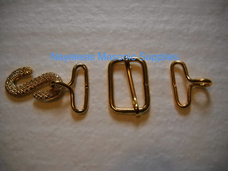 Masonic Apron Belt Hooks Adjuster Gold Finish