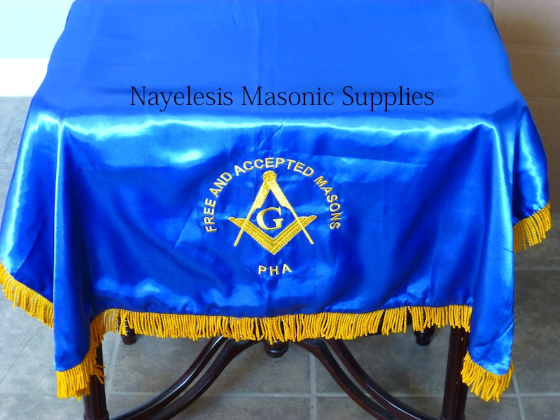 Masonic Blue Lodge Alter Cover F&AM Masons Double Satin