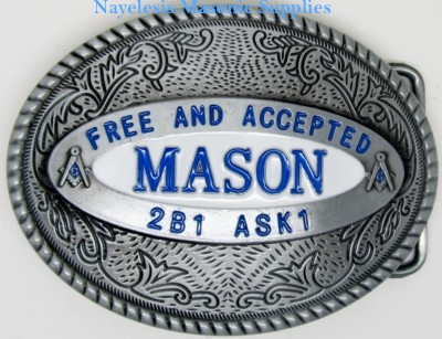 Masonic F&AM Master Mason belt Buckle
