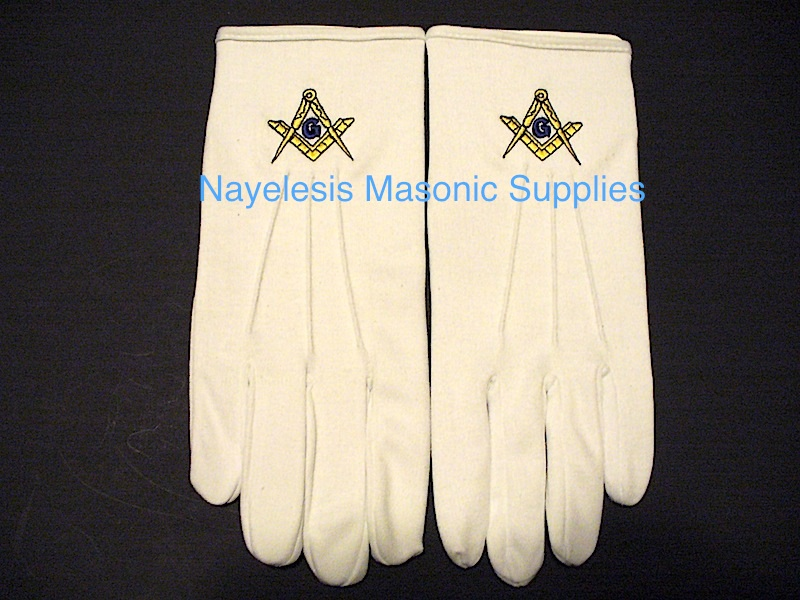 Masonic Master Mason Gloves