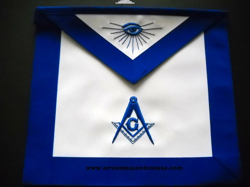 MA- Masonic Master Mason Blue Lodge apron