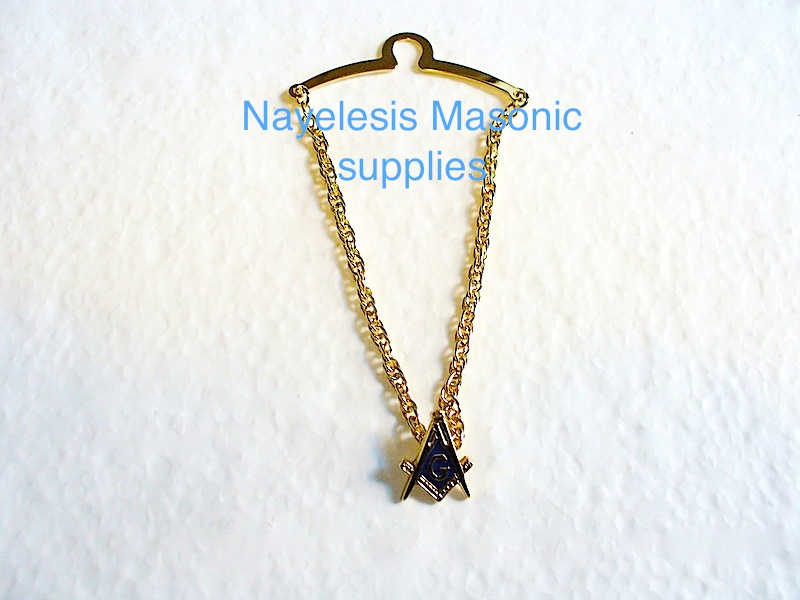 Masonic Tie Chain with blue Lodge Emblem