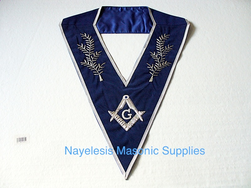 Master Mason Blue Velvet Dress Collar