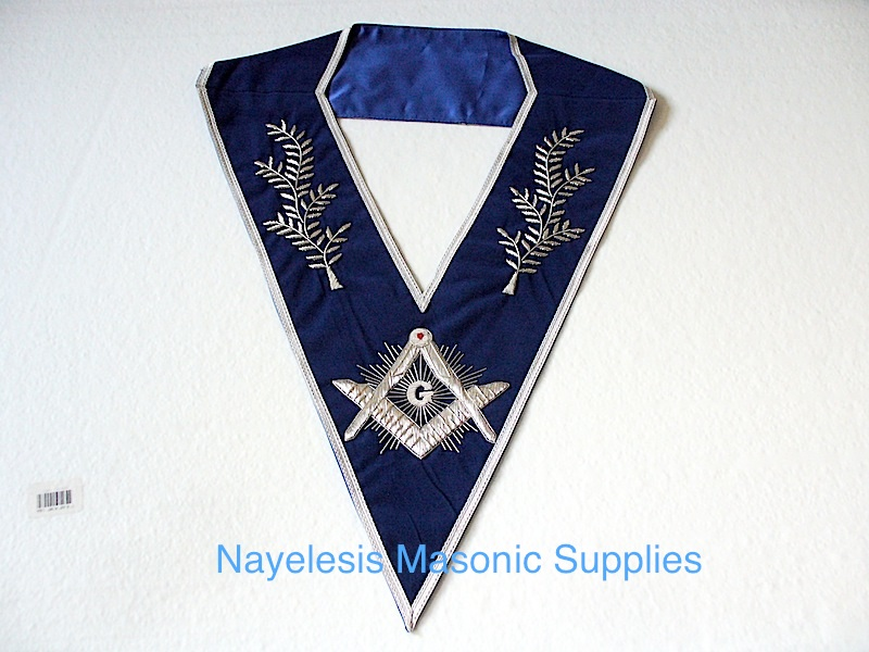 Master Mason Blue Velvet Dress Collar 01