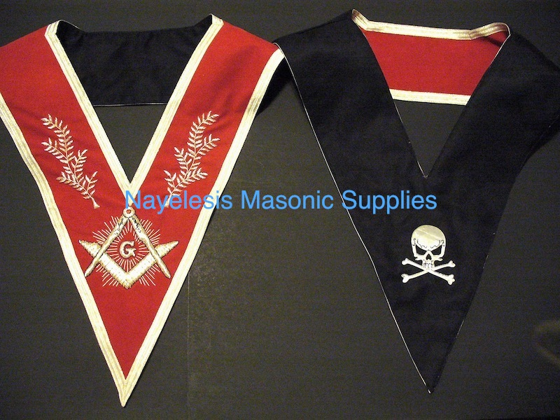 Master Mason Red Velvet Dress Collar