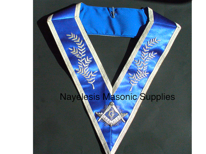 Master Mason Royal Blue Satin Collar