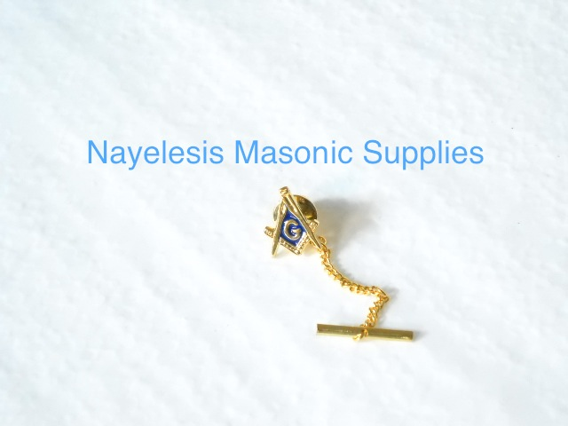 Master Mason S&C Tie Tack Golden Finish