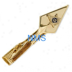 Master Mason Tie Bar Trowel Gold Plated