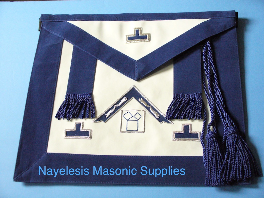 Past Master Apron Silver Embroidery Work