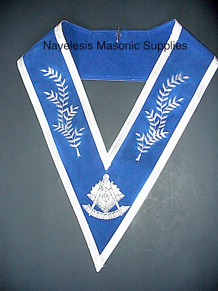 Past Master Silver Collar Blue Velvet