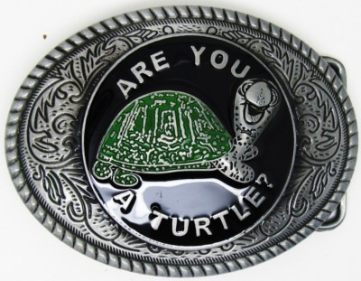 Are you A Turtle? Belt Buckle