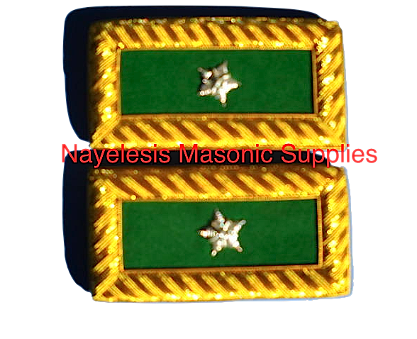 Golden Bullion  One Star Shoulder Boards