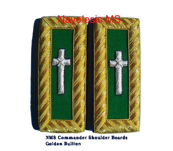 Commander Shoulder Golden Bullion  Boards