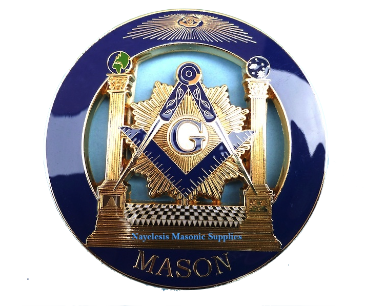Blue Lodge Delux Master Mason Cut  Out Car Emblem