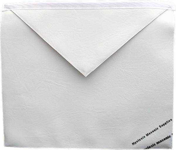 Entered aprentice White Heavy Press Lambskin Apron