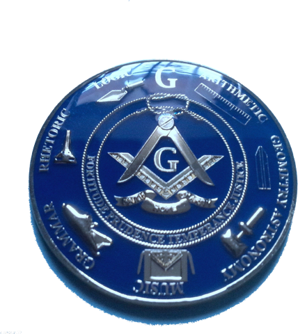 Master Mason Love For Arts Alloy Zinc Auto Emblem