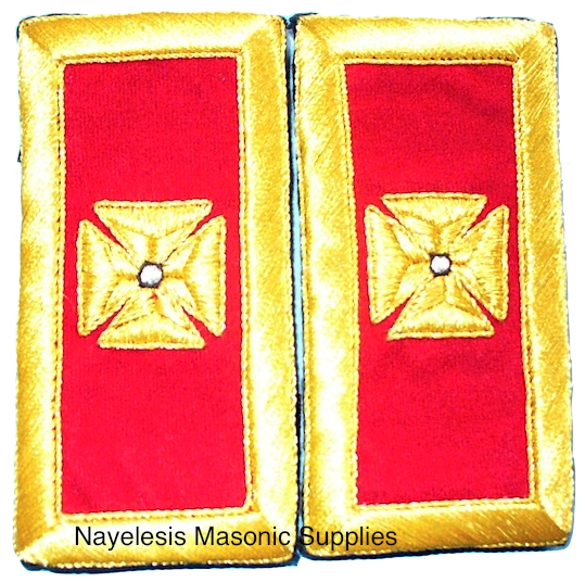 Grand Commandery Mylar Shoulder Boards