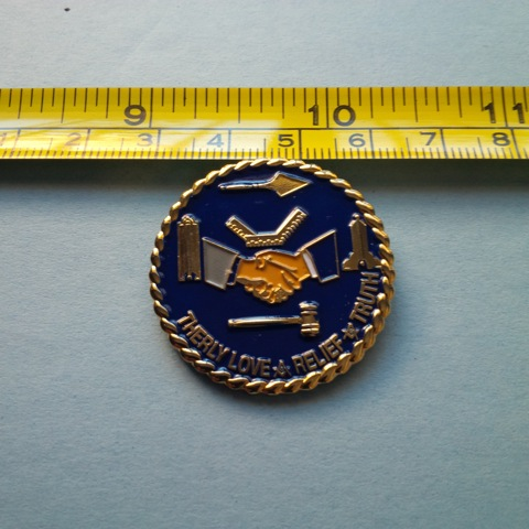 Brotherly Love Master Mason Large Pin