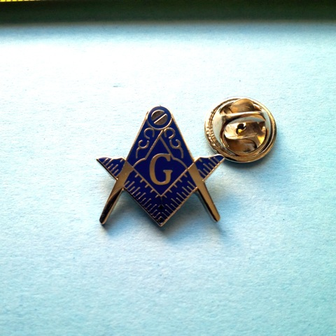 Silver & Blue Master Mason Blue Lodge Lapel Pin