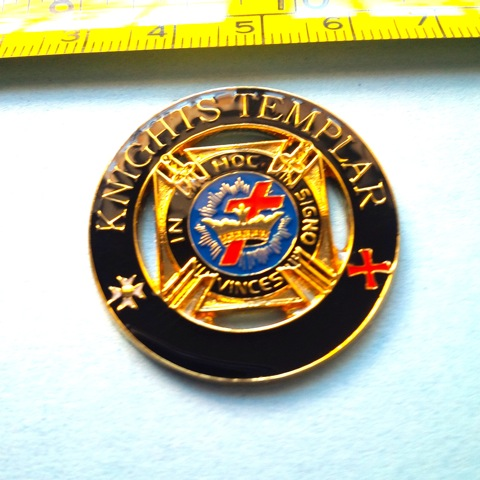 Knight Templar Large Pin