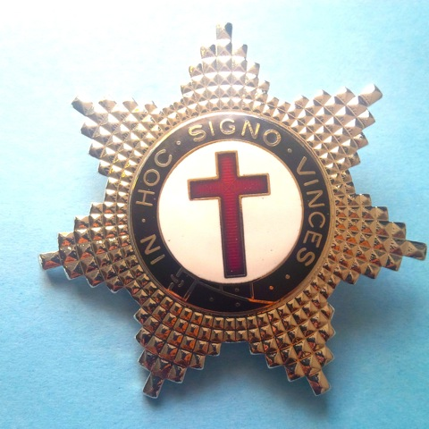 Knight Templar Silver Star Heavy Duty Uniform Badge