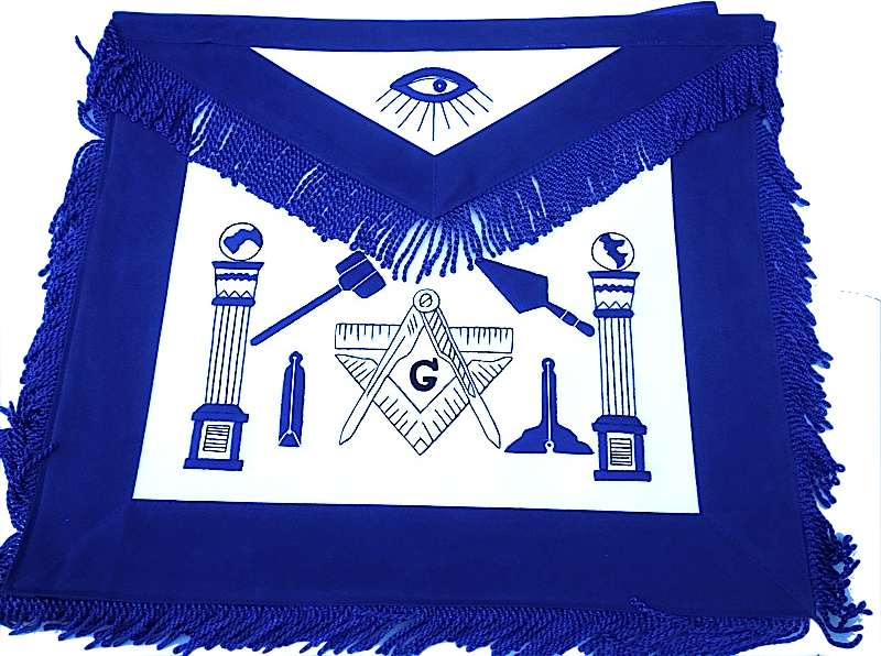 MA-Master Mason  Masonic Working Tools Blue Velvet