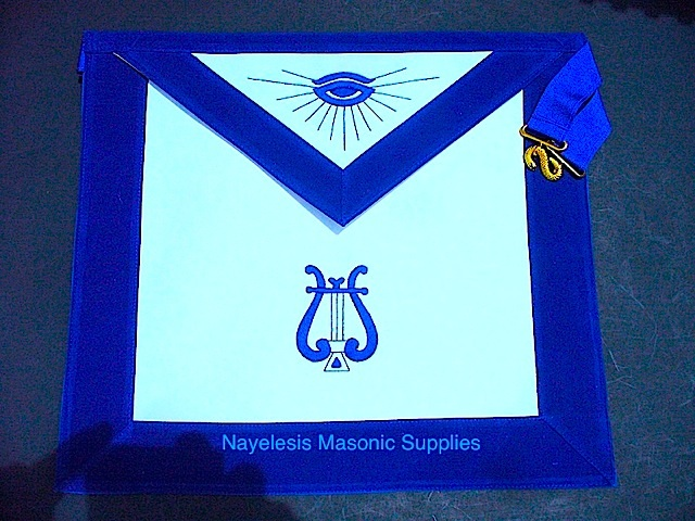 MA- Masonic Blue Lodge Organist Apron
