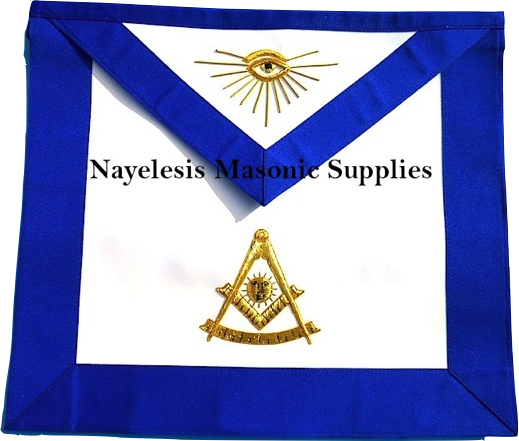 MA- Masonic Blue Lodge Past Master Apron