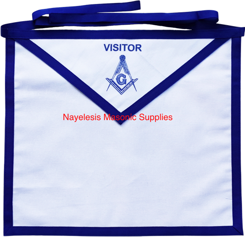 Blue Lodge White Cotton Duck Cloth Visitor Apron