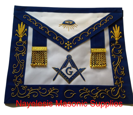 Master Mason Golden Tassels Masonic  Embroidery Work