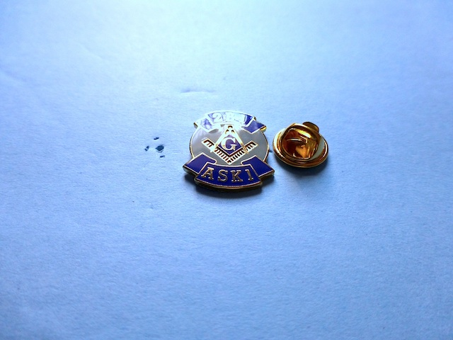 Master Mason 2B1 ASK1 Light Blue & Blue with Golden