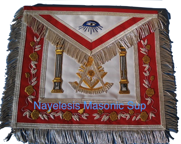 Past Master Apron B&J PIllars RED 0091