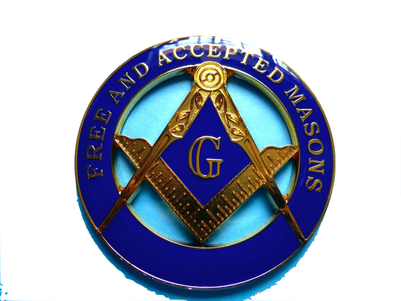 Blue Lodge Master Mason Cut Out F&AM alloy Zinc Car Emblem #01