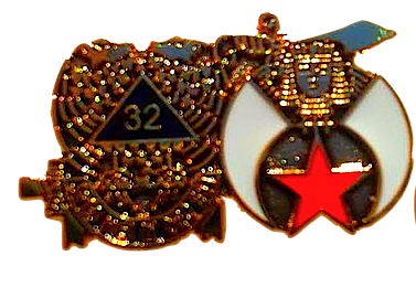 32nd Degree Shriners Golden Finish Pin