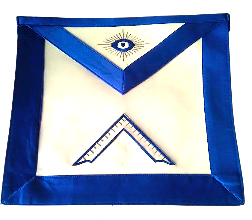 MA-The Lux Worshipful Master Royal Blue Satin Apron